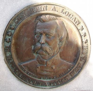 Gen. John A. Logan Medallion image. Click for full size.