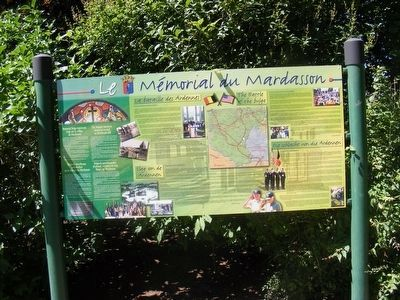 Memorial du Mardasson Marker in total image. Click for full size.