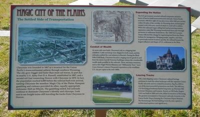 Magic City of the Plains Marker image. Click for full size.