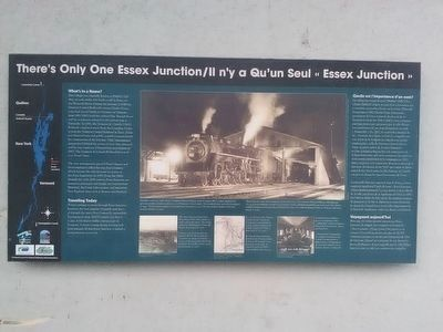 There's Only One Essex Junction Marker image. Click for full size.