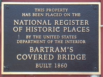 Bartram's Covered Bridge Marker image. Click for full size.