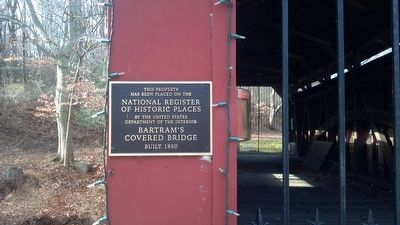 Bartram Bridge Marker image. Click for full size.