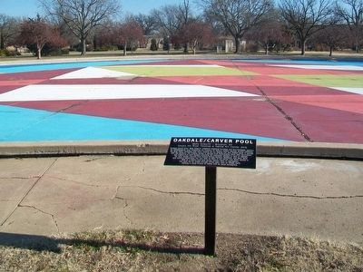 Oakdale/Carver Pool and Marker image. Click for full size.