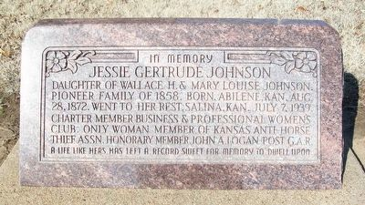 Jessie Gertrude Johnson Grave Marker image. Click for full size.