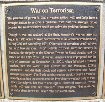 War on Terrorism Marker image. Click for full size.