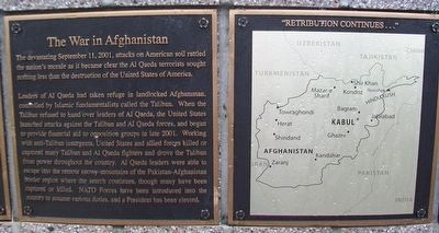 The War in Afghanistan Marker image. Click for full size.