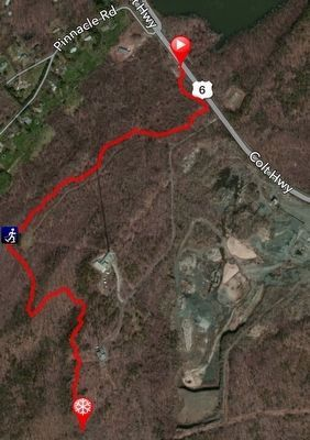 The 1.2 mile trail to Will Warren's Den image. Click for full size.