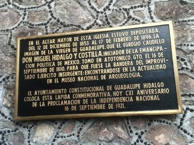 The Banner of Atotonilco and the Parish of the Natives Marker image. Click for full size.
