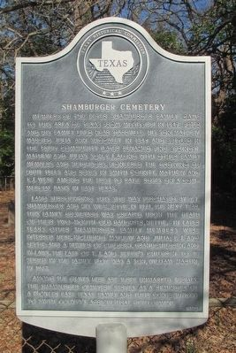 Shamburger Cemetery Marker image. Click for full size.