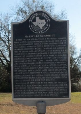Starrville Community Marker image. Click for full size.