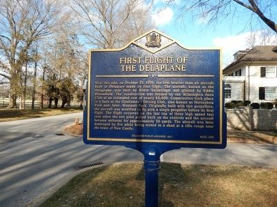 First Flight of the Delaplane Marker image. Click for full size.