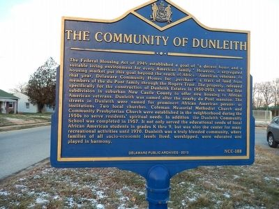 The Community of Dunleith Marker image. Click for full size.
