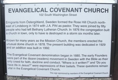 Evangelical Covenant Church Marker image. Click for full size.
