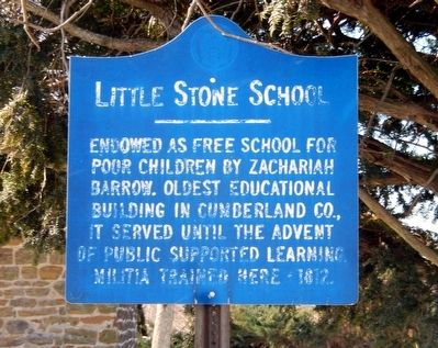 Little Stone School Marker image. Click for full size.