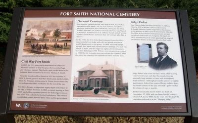 Fort Smith National Cemetery Marker image. Click for full size.