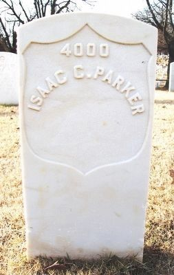 Isaac Parker Grave Marker in Fort Smith National Cemetery image. Click for full size.