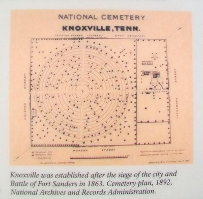 Cemetery Plan on A National Cemetery System Marker image. Click for full size.