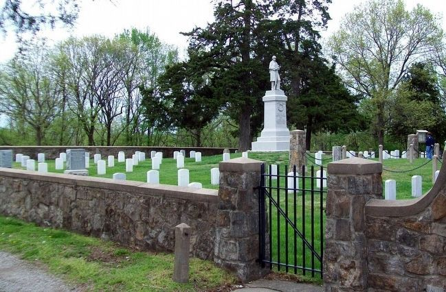Soldiers Lot in Woodland Cemetery, Mound City, Kansas image. Click for full size.