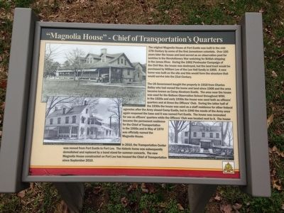 Magnolia House - Chief of Transportation's Quarters Marker image. Click for full size.