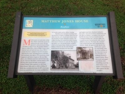 Matthew Jones House Marker image. Click for full size.