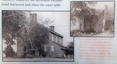 Close up of photographs on the Matthew Jones House Marker image. Click for full size.