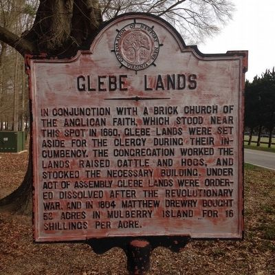 Glebe Lands Marker image. Click for full size.