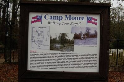 Camp Moore #3 Marker image. Click for full size.
