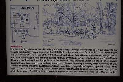 Camp Moore #5 Marker image. Click for full size.