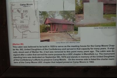 Camp Moore #6 Marker image. Click for full size.