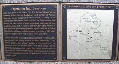 Operation Iraqi Freedom Marker image. Click for full size.