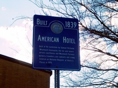 American Hotel Marker image. Click for full size.