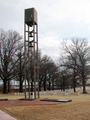 Veterans Memorial Carillon and Markers image. Click for full size.