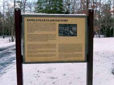 Estellville Glass Factory Marker image. Click for full size.