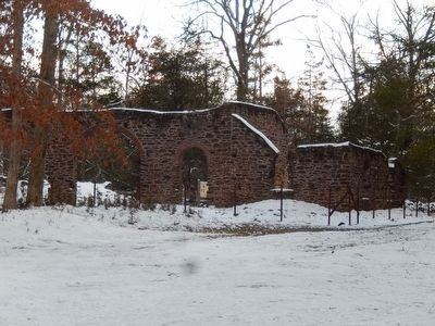 Estellville Glass Factory-Ruins image. Click for full size.