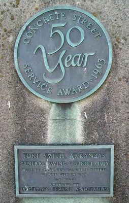 50 Year Concrete Street Service Award • 1963 Marker image. Click for full size.