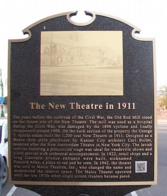 The New Theatre in 1911 Marker image. Click for full size.