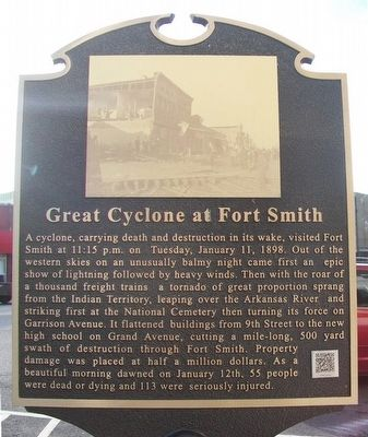Great Cyclone at Fort Smith Marker image. Click for full size.
