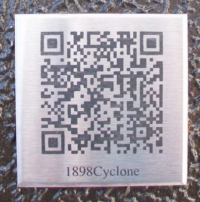 QR Code on Great Cyclone at Fort Smith Marker image. Click for full size.