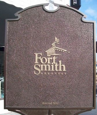 Great Cyclone at Fort Smith Marker (back) image. Click for full size.