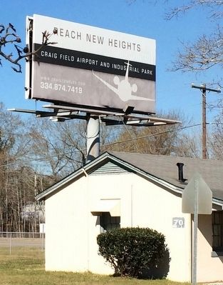 Billboard at entrance to the Industrial complex. image. Click for full size.