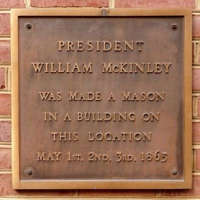 President William McKinley Marker image. Click for full size.
