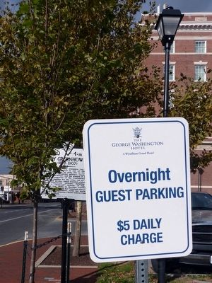 The George Washington Hotel<br>Overnight Guest Parking image. Click for full size.
