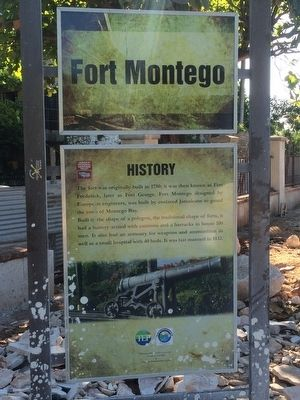 Fort Montego History Marker image. Click for full size.