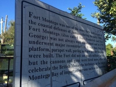 Fort Montego History additional marker image. Click for full size.