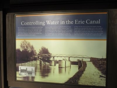 Controlling Water in the Erie Canal Marker image. Click for full size.