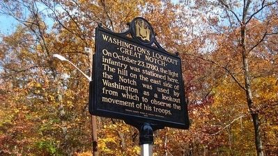 Washington's Lookout Marker image. Click for full size.