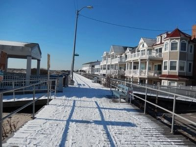 Boardwalk with snow near the Sindia Marker image. Click for full size.