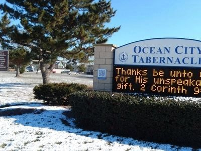 Ocean City Tabernacle sign image. Click for full size.