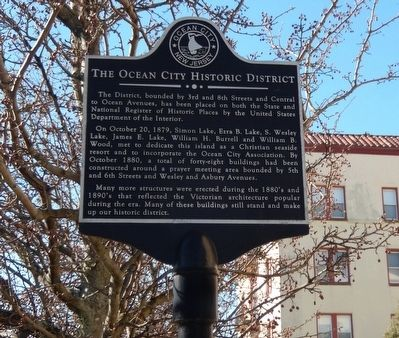 The Ocean City Historic District Marker image. Click for full size.