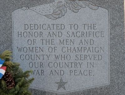 Champaign County Veterans Memorial Marker image. Click for full size.